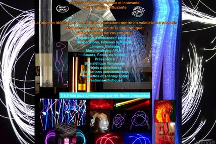Midlightsun-faisceaux de fibres optiques diffusantes