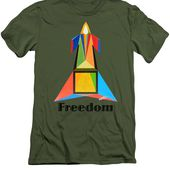 Freedom Text T-Shirt for Sale by Michael Bellon