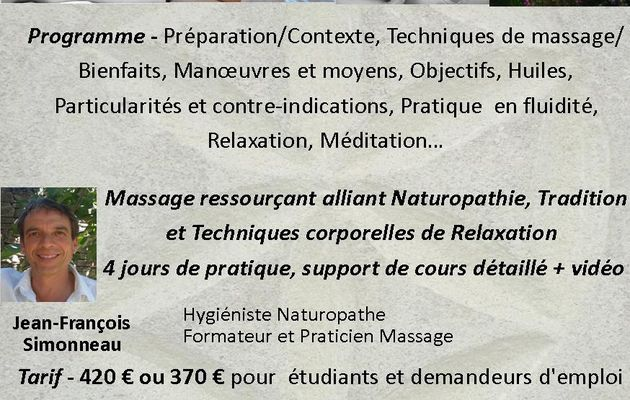 Formation massage ananda avec Jean François Simonneau