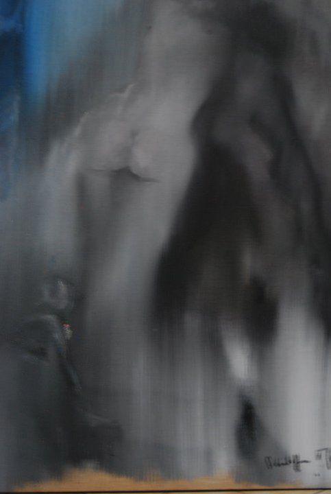 tableaux, dessins et travail de Mimi Tricotin, expo Point par Point