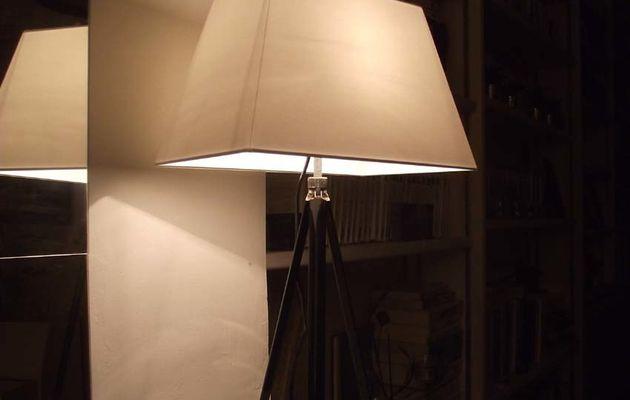 Un pied de lampe avec un pied d'appareil photo