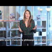 Dans quelle mesure la PHILOSOPHIE est-elle utile ? La minute philo - TLM - Laura Lange