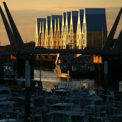 Fin d'après-midi sur le quartier du Grand Large, Dunkerque 2010