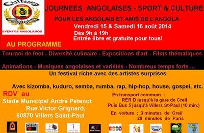 Culture & Sport / Journées Angolaises 15-16 août à Villers Saint Paul