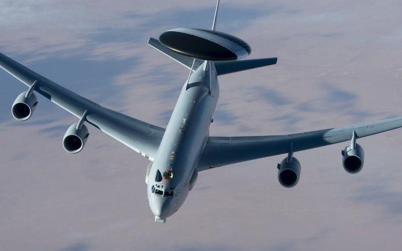 Un E-3F Sentry AWACS de l'Armée de l'Air intègre l'opération Chammal