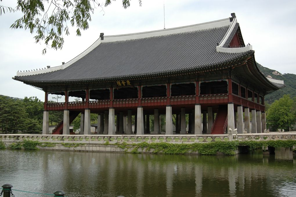Visite du palais royal de Seoul, juin 2008.