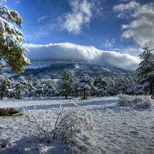 Photos artistiques hivernales de St André les Alpes par Francois Grados