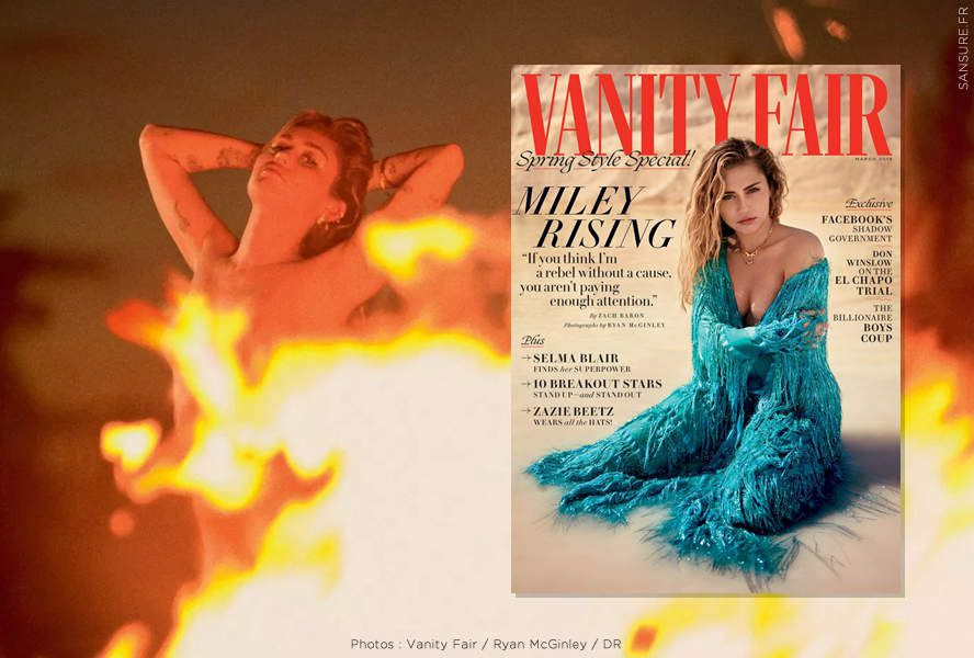Miley Cyrus pose topless pour Vanity Fair ! (diaporama) #sexy