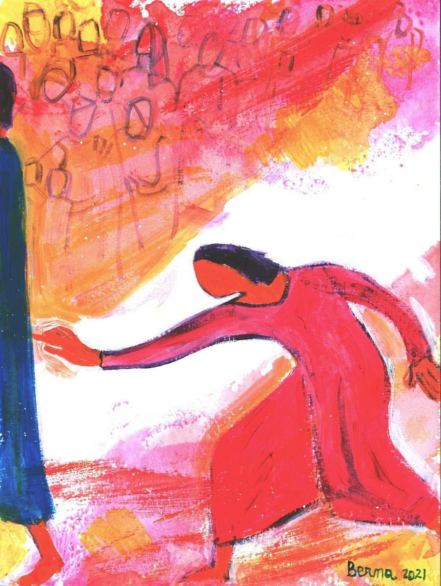 Que ce soit pour guérir la femme hémorroïsse ou pour ressusciter la fille de Jaïre, il y a bien, en même temps qu'une parole, un contact physique avec Jésus. http://www.evangile-et-peinture.org/meditations-dominicales/images-a-lavance/