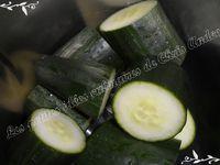 Verrines de concombre / ail et fines herbes