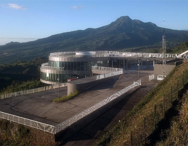 Mount Pelée and the Volcanological and Seismological Observatory of Martinique, - photo OVSM