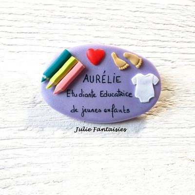 Badge pour Aurélie, étudiante éducatrice de jeunes enfants