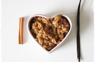 Riz Au Lait Vegan, Sucre de Fleur de Coco Cannelle Vanille
