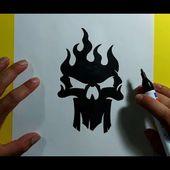 Como dibujar una calavera paso a paso 36   How to draw a skull 36