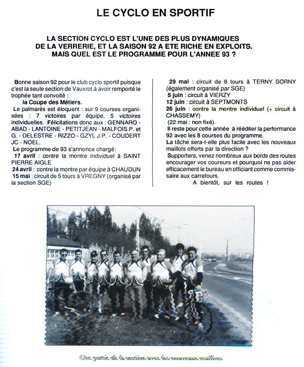 Album - groupe Saint-Gobain, la verrerie de Vauxrot ( Aisne), les activités sportives