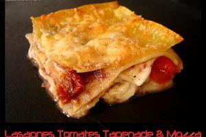 Lasagnes Tomate Tapenade et Mozza