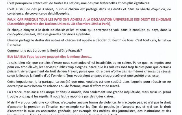 La lettre aux Français de E. Macron, contre-feu pour faire diversion