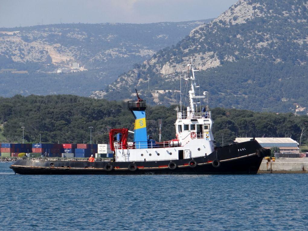 PAUL , remorqueur italien   arrivant à la Seyne sur Mer le 20 mai 2018