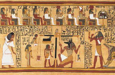 Le livre des morts égyptiens et dernière news d'écriture