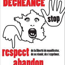 Samedi 30 janvier 2016 : MANIFESTATIONS contre l'ÉTAT d'URGENCE