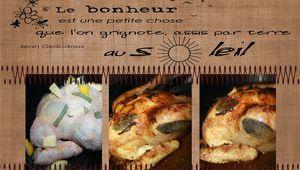 Superbe Poulet rôti Sauge et citron confit!!