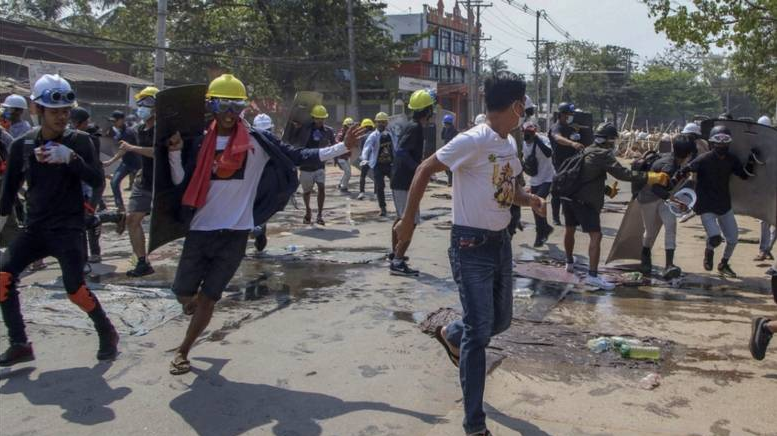 Myanmar coup: 10 more protesters shot dead by junta