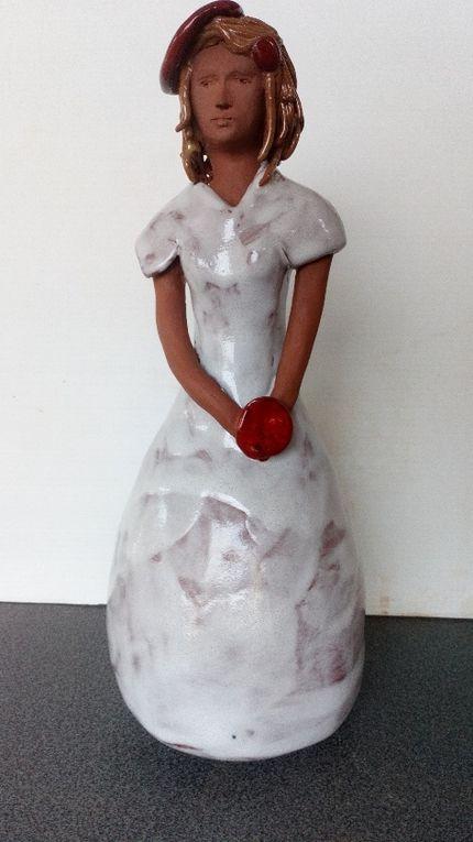 Plats et sculpture de Myriam G
