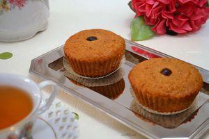Muffins aux cranberries et son d'avoine
