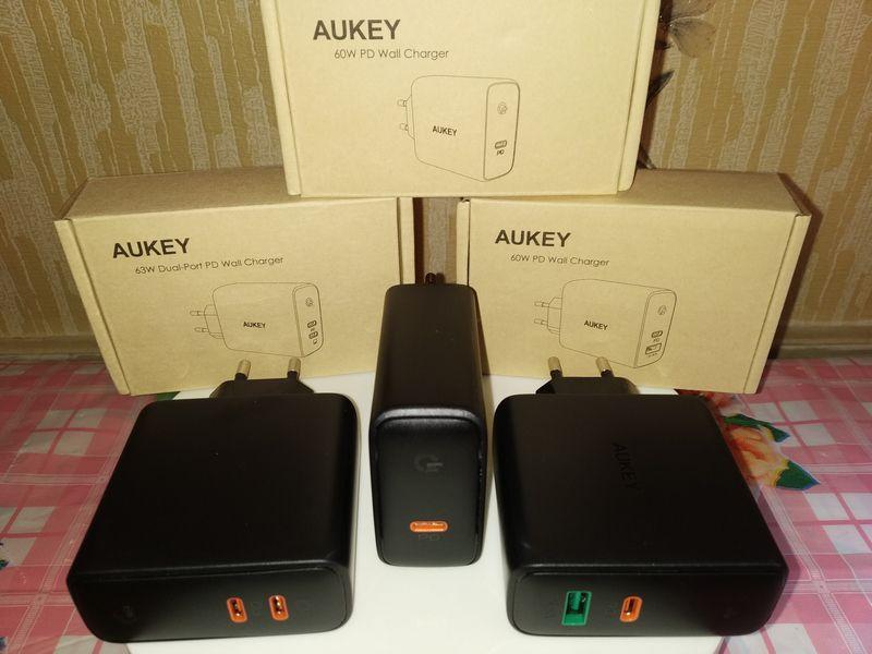 découverte des chargeurs secteur USB type C Power Delivery 60 Watts - Aukey PA-D3/D4/D5 @ Tests et Bons Plans