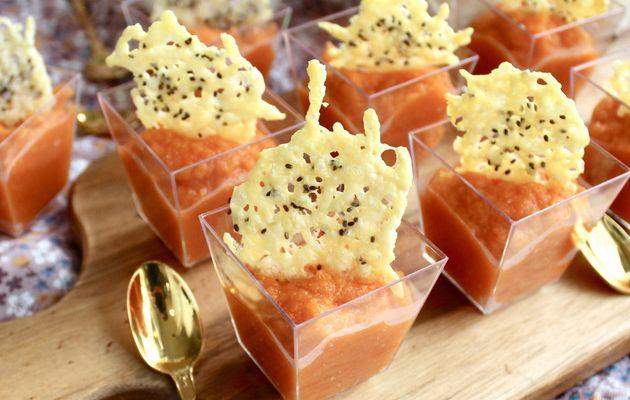 Mousse de carottes à la ricotta et huile de noisettes