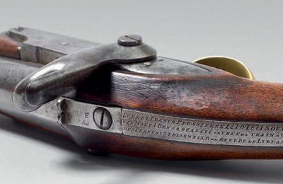 Pistolet souvenir du 4 septembre 1870
