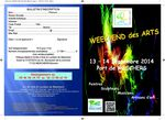 Week-end des Arts 13 & 14 sept 2014