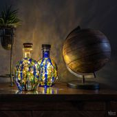Alcohol Ink Bottle Lights (a 10-minute DIY) - The Navage Patch