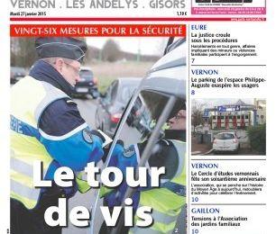 """Presse : Les """"Une"""" du Paris Normandie du Mardi 27 janvier 2015"""