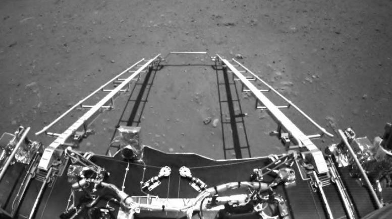 China's Zhurong Mars rover takes first drive on surface of Red Planet