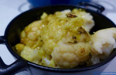 Chou-Fleur Rôti au Lait de Coco et au Curry!