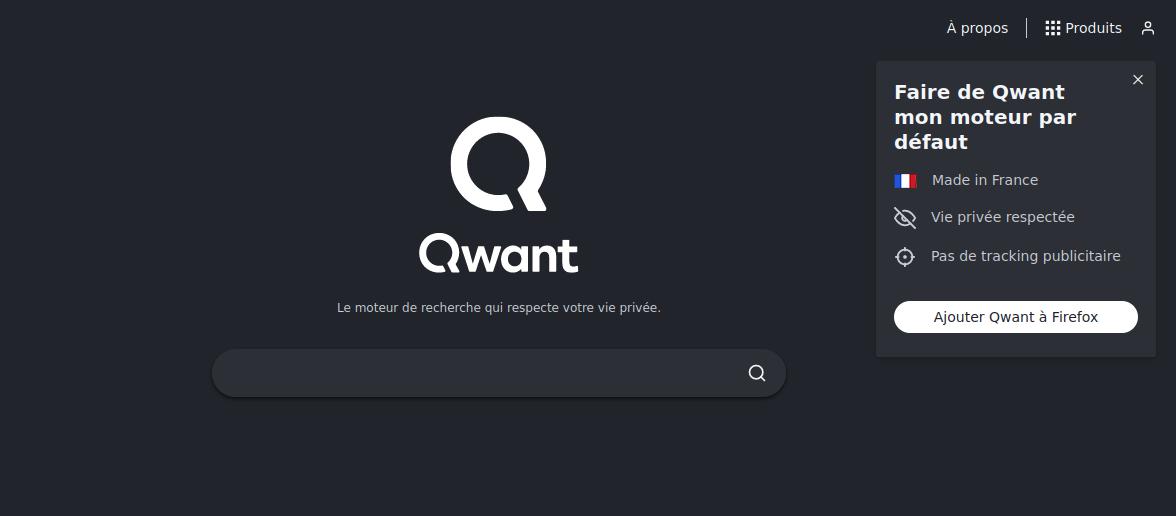 QWANT : Chercher français ...