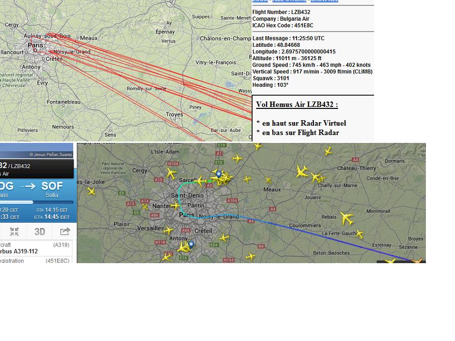 Captures d'écran Radarvirtuel 10 et11 mars 2014