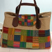 Quilting Patchwork Bag Tutorial. Сумка пэчворк ~