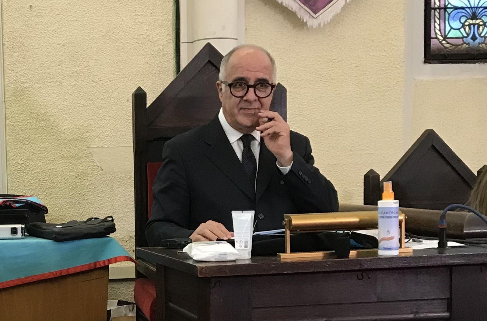 Jean-Claude Joly, président du Congrès Ile-de-France / Outre-Mer / Orients éloignés de la GLDF (photo Jean-Laurent Turbet).