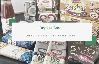 What's in the :DEGUSTA Box : Novembre 2020 - Comme un chef