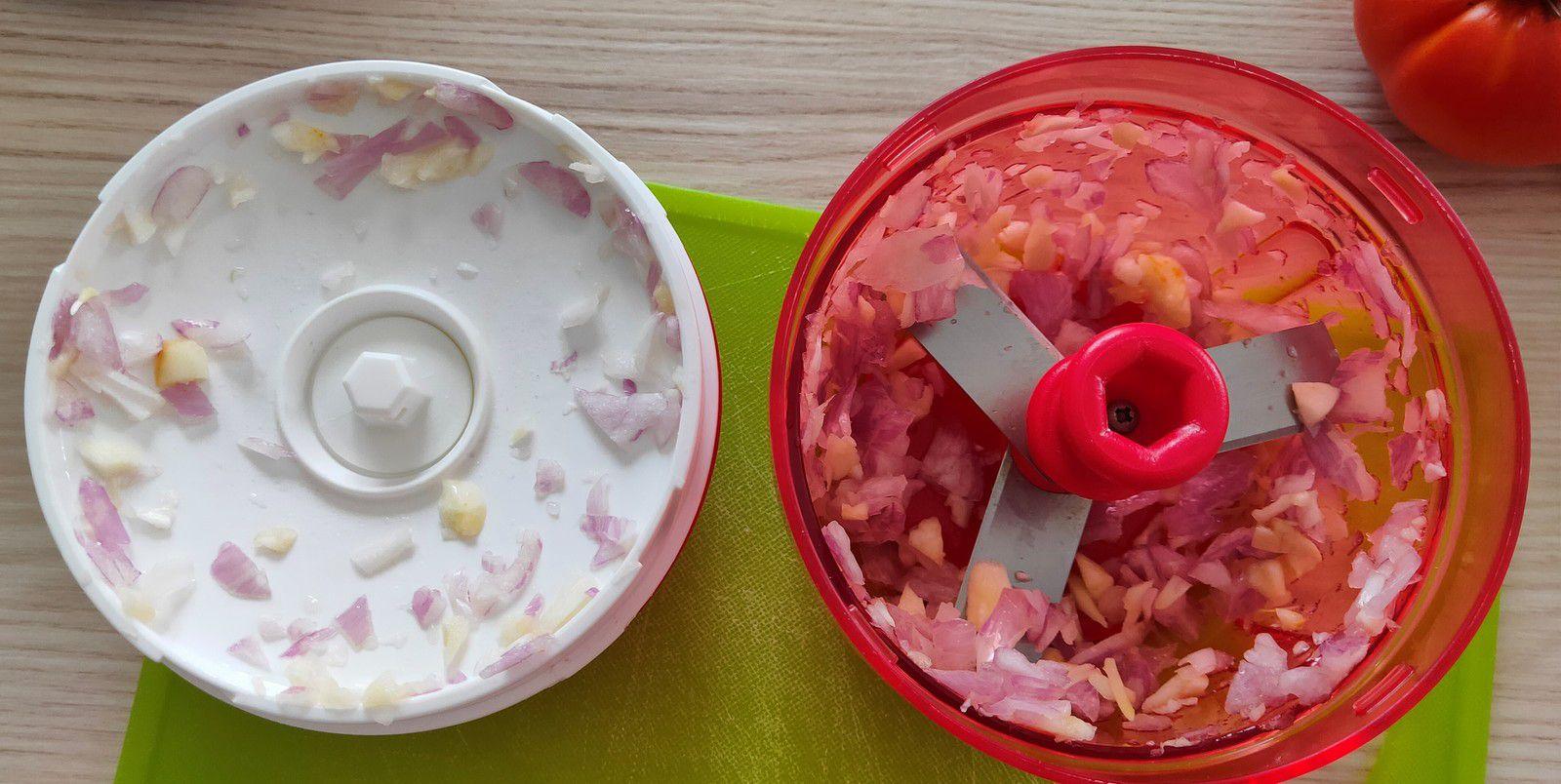 Paupiettes de dinde à la ratatouille aux tomates du jardin au Cookeo
