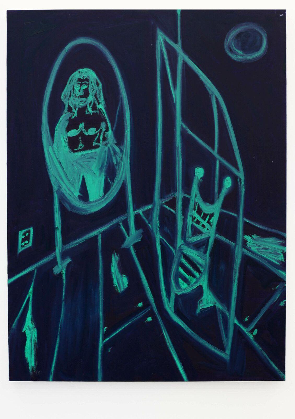 """""""Lady in mirror"""", 2021 de Marcus JAHMAL - Courtesy de l'artiste et de la galerie Almine Rech © Photo Éric Simon"""