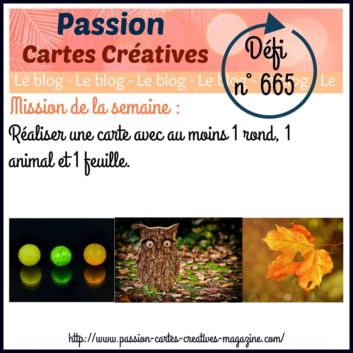 le défi 665 de Passion Cartes Créatives : ma participation
