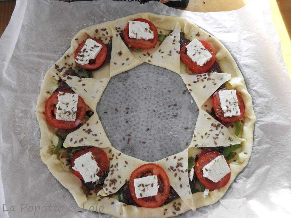 Tarte Soleil tomate, feta et magret
