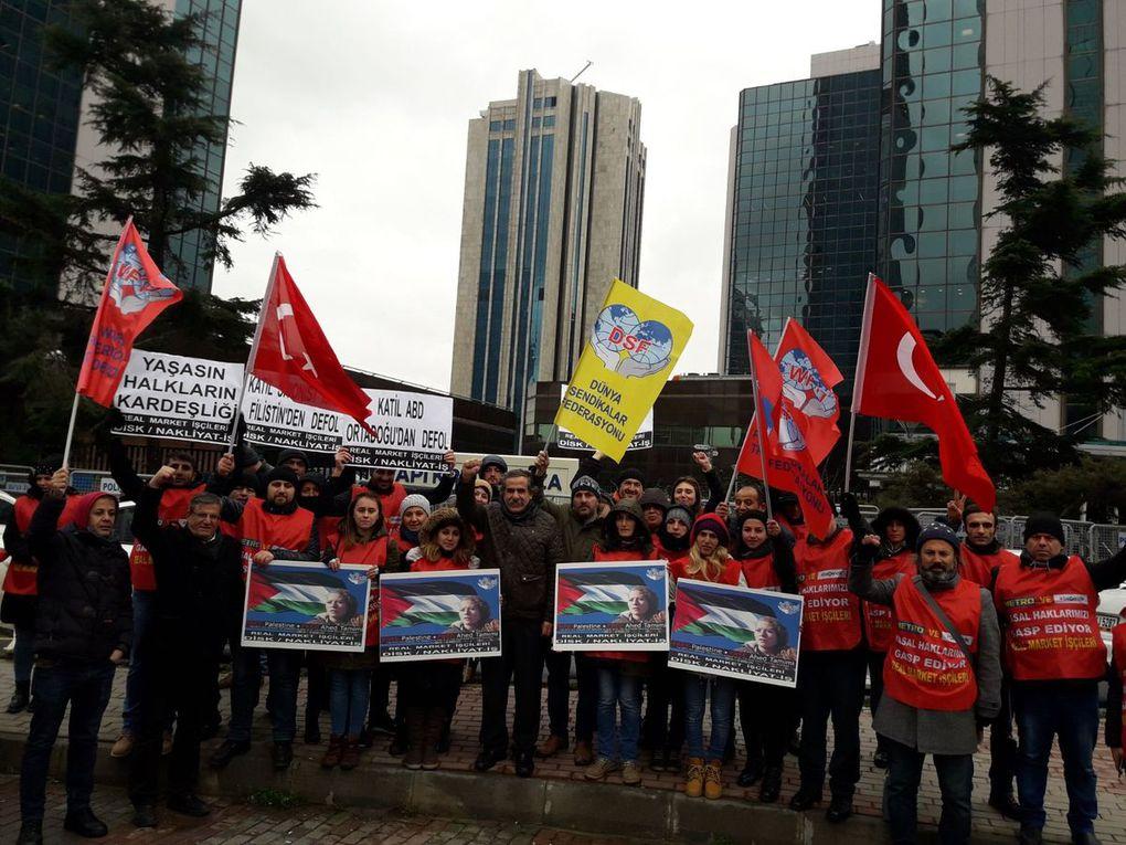 Solidarité internationale avec Ahed Tamimi et les prisonniers politiques Palestiniens à l'appel de la FSM - GALERIE PHOTOS