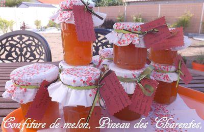 Confiture de melon, Pineau des Charentes, vanille de Tahiti et citron