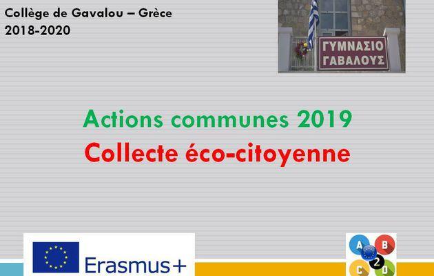 Action commune - Crèce - Collecte éco-citoyenne