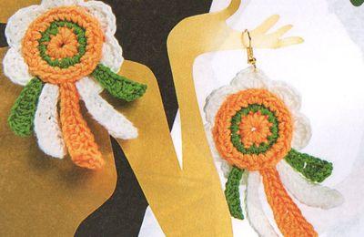 Tutoriel crochet - Boucles d'oreilles fleurs