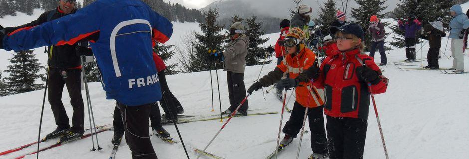 Sortie ski de fond au plateau des Glières